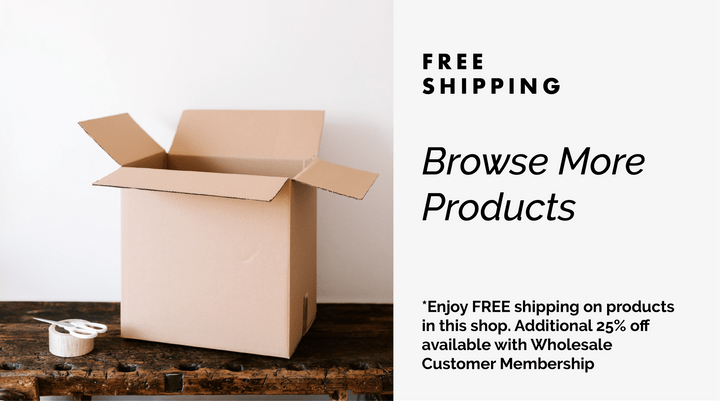 "Text that says ""Free Shipping - Browse More Products"""