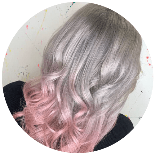 Grey, Pink Ombre