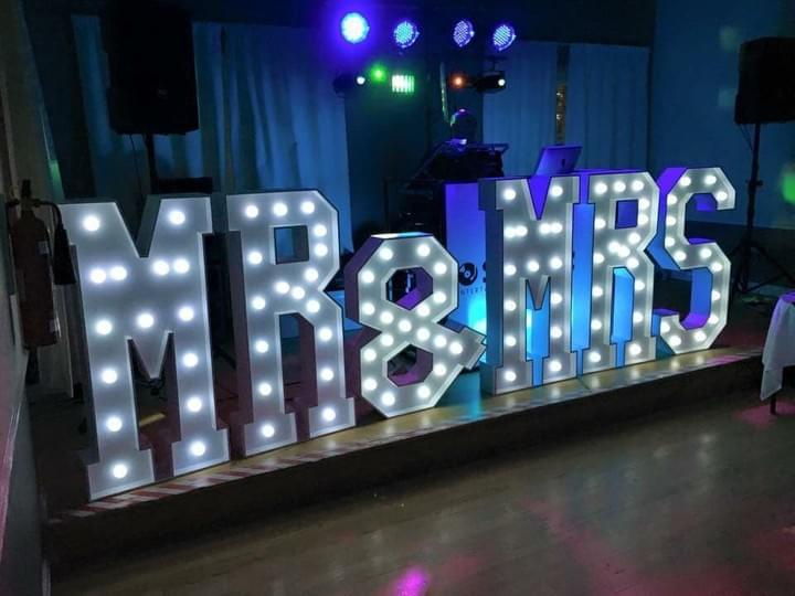 Light Up Mr & Mrs Wedding Letters For Hire London