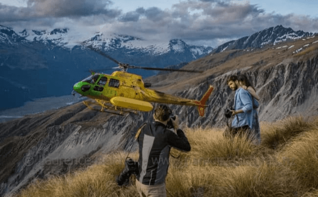High up the Rees Valley with Heli Glenorchy during a travel magazine shoot