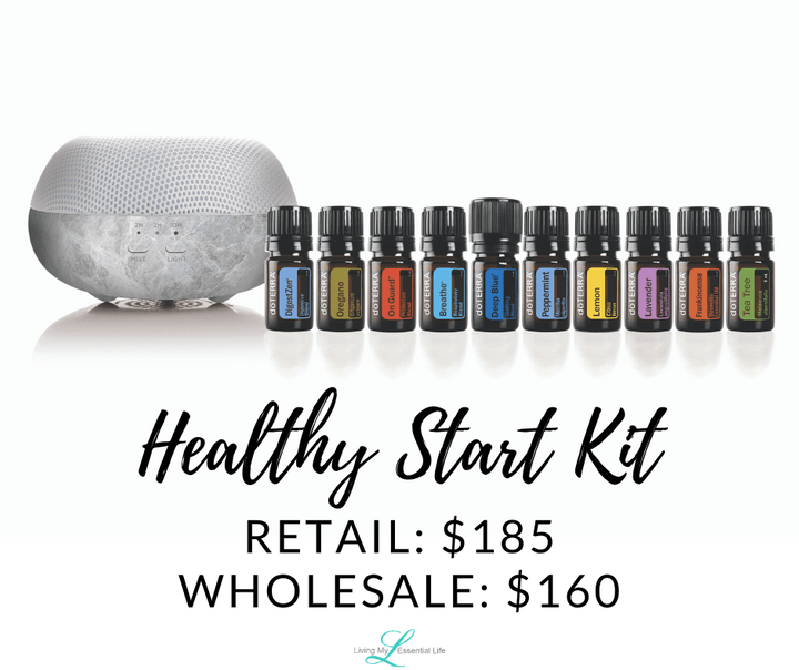 doTERRA Healthy Start Enrollment Kit - begin your wellness journey with Living My Essential Life