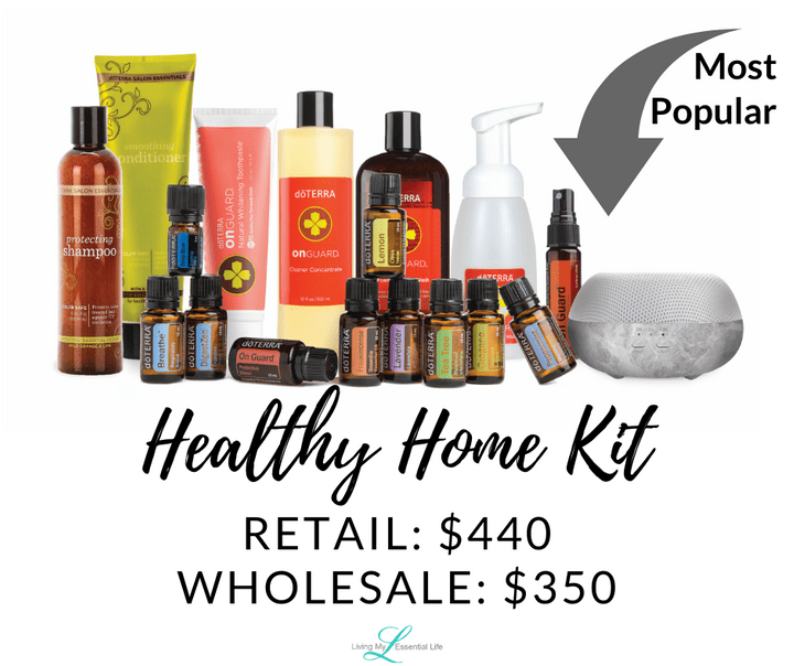 doTERRA Healthy Home Enrollment Kit - begin your wellness journey with Living My Essential Life