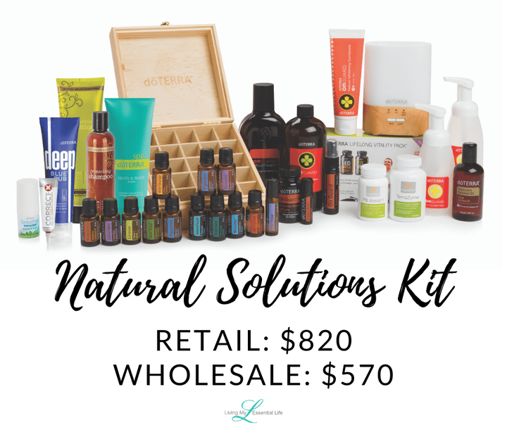 doTERRA Natural Solutions Enrollment Kit - begin your wellness journey with Living My Essential Life