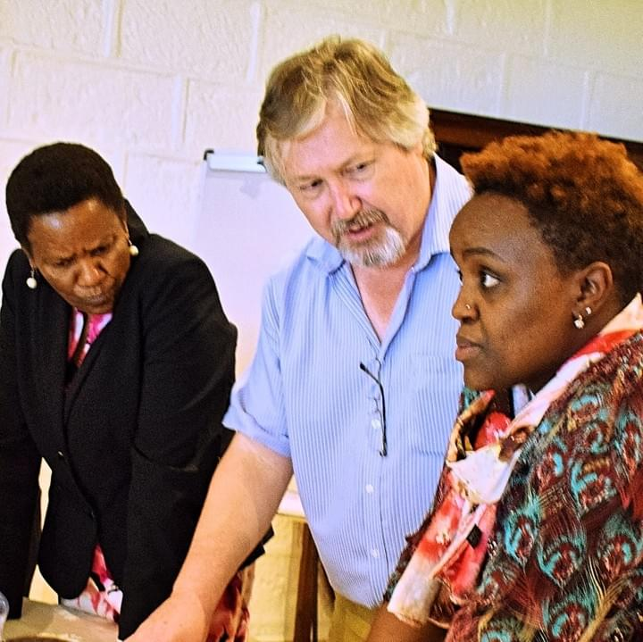 Development Pathways' Senior Social Policy Specialist Stephen Kidd, training in Kenya on building an inclusive social protection system.