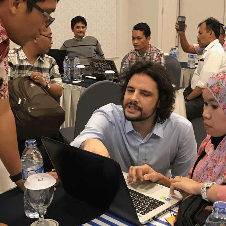 Senior Social Policy Specialist Bjorn Gelders, providing analysis to underpin inclusive social protection in Indonesia.