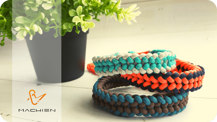 MACHIEN Inc.'s handmade lace-braided wristbands