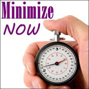 A stopwatch about to be stopped.  Minimze Now on startover.xyz, powered by Possibility Management