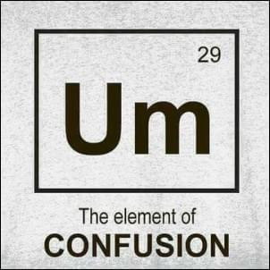 Um meme The element of confusion