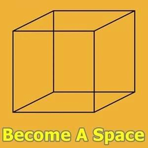A cube formed of lines, Become A Space on startover.xyz