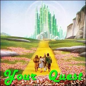 dorothy gale from the Wizard of Oz film marching up the yellow brick road towards the emerald palace arm-in-arm wtih the lion, the scarecrow, and the tin woodsman, Trainer Path, StartOver.xyz, Possibility Management