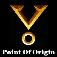 golden three 3 dimensional v and o point of origin symbol from the stargate film series on black background, Point Of Origin, Trainer Path, StartOver.xyz, Possibility Management