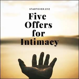 A Hand gesturing to show the world and making Five Offers for Intimacy