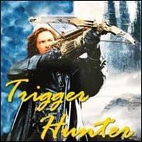 hugh jackman with long hair wearing dark overcoat as van helsing film character outdoors aiming his gatling gun crossbow, Trigger Hunter, Trainer Path, StartOver.xyz, Possibility Management