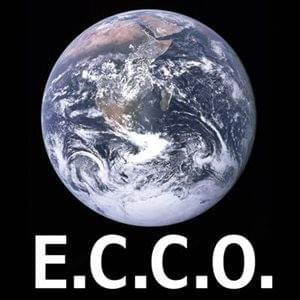 Earth satellite photo with E.C.C.O ecco in white letters