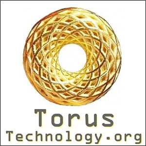 metallic gold torus doughnut toroid on white background, Torus Technology.org