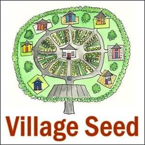 a hand drawn circular village, born from a Village Seed