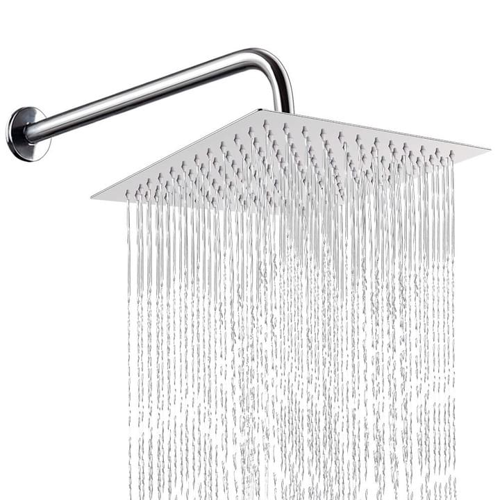 NearMoon High Pressure Shower Head with Shower Arm High Flow Stainless Steel ...