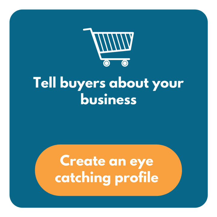 Tell buyers about your business