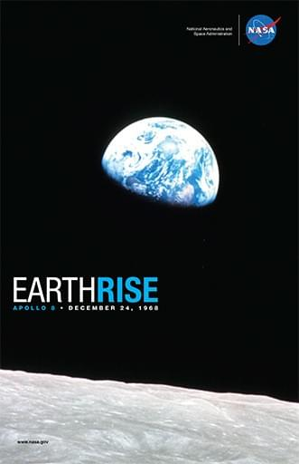 Nasa earthrise poster