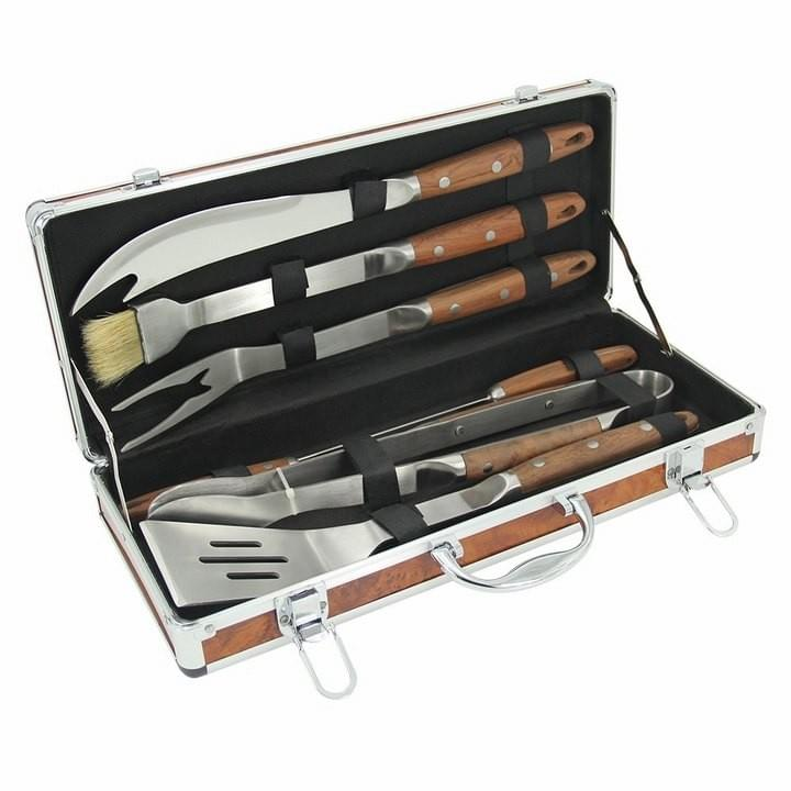 BBQ Set with Pakka Wood Handle
