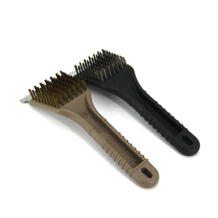 copper bristle BBQ Brush with PP handle