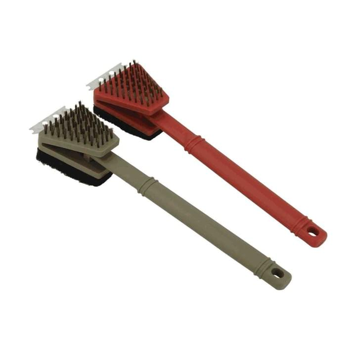 Long Plastic Handle Grill Brush 3 in 1