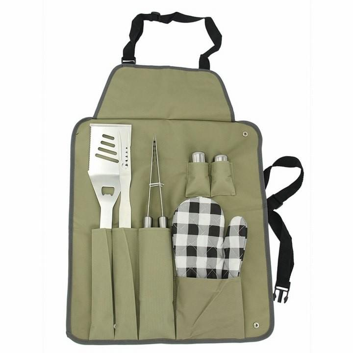 7pcs BBQ Tools with Apron