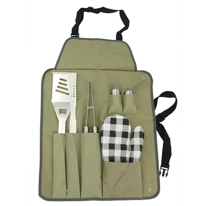 Outdoor BBQ Apron and Utensil Set