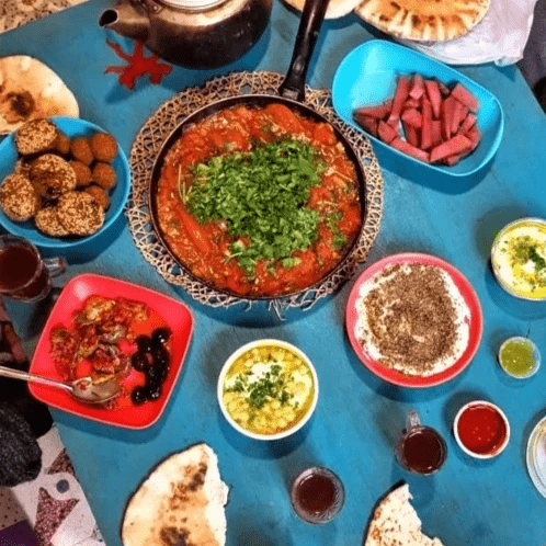 Middle eastern food our chef learned to cook in Jordan