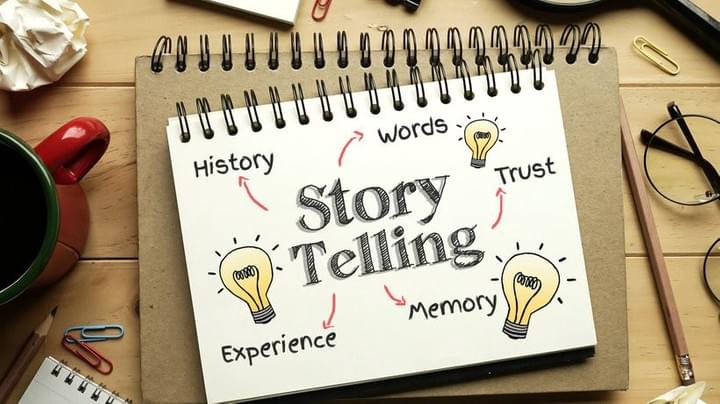 Using story telling to capture attention