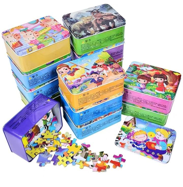 Kids Puzzle with Tin Box