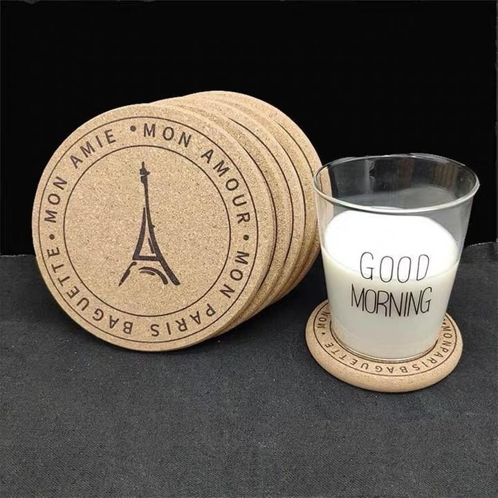 Promotional Custom Logo Cork Coasters