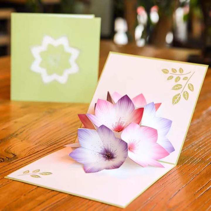 3D flower Pop Up Greeting Cards