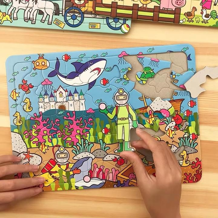 Customized Children paper puzzle China printing manufacturer
