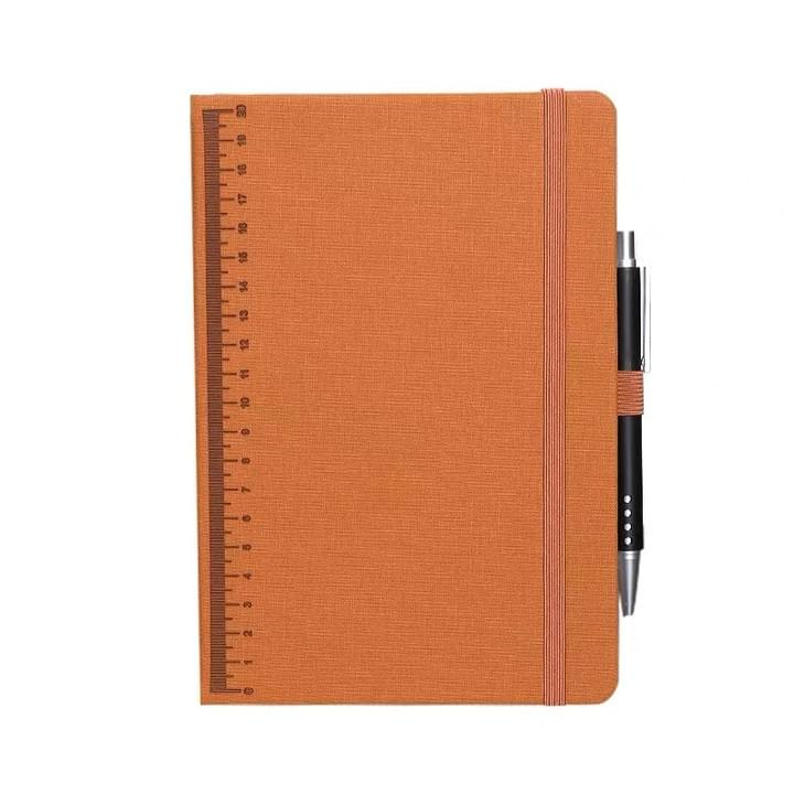 Notebook with pen holder