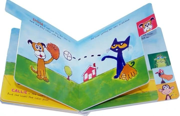 Children's tabbed Board books
