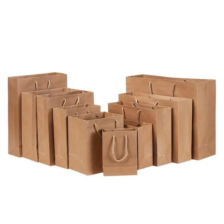 Custom various different size Kraft Paper Bags