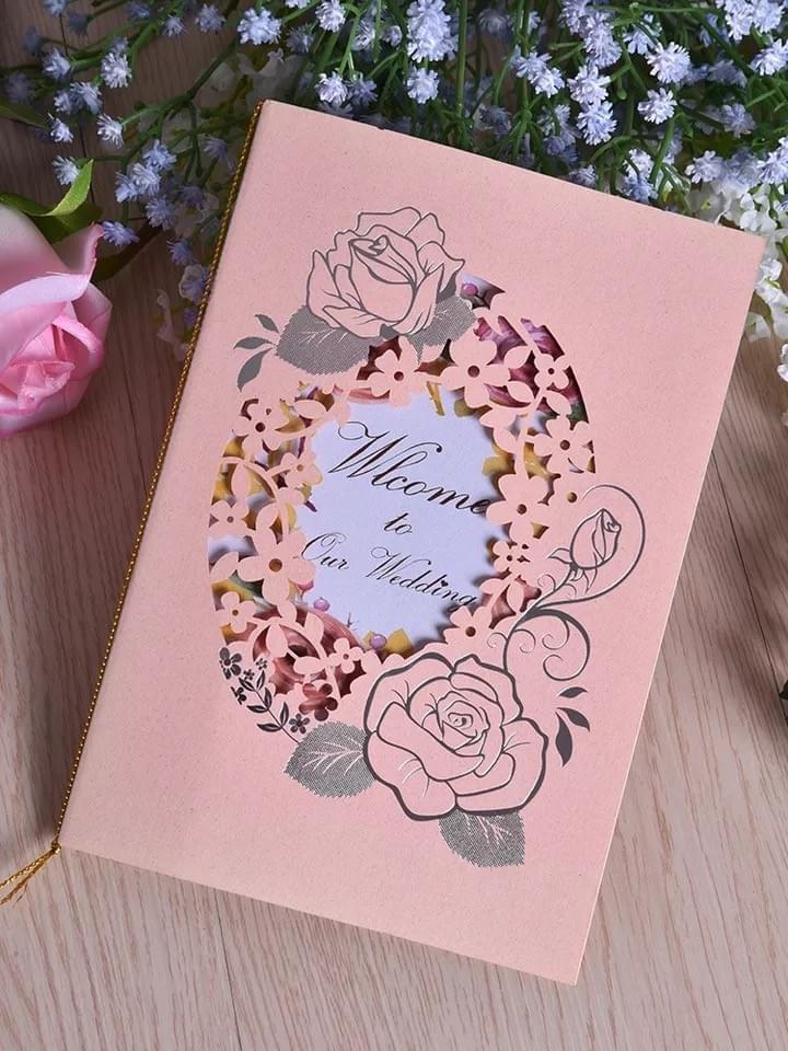 Laser cut Welcome Greeting Cards