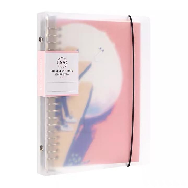clear PVC cover journal