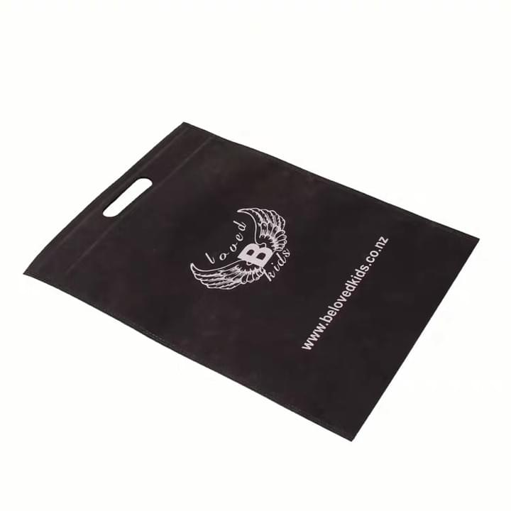 Promotional Custom Logo Black Non woven Bags