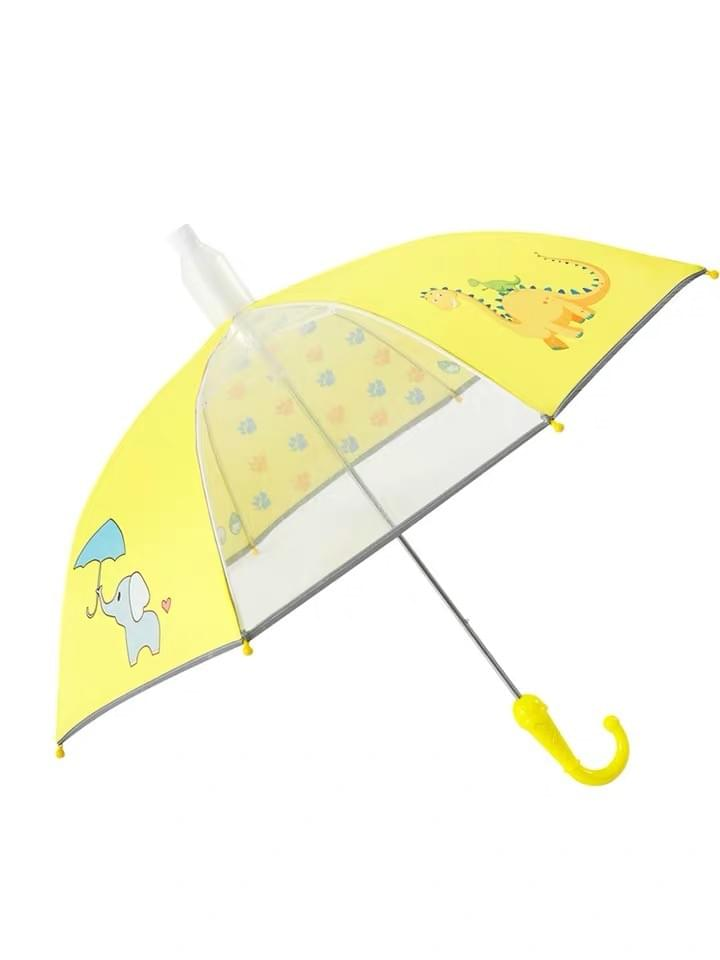 Custom Kids Summer Weather Rain Season Straight clear Umbrellas