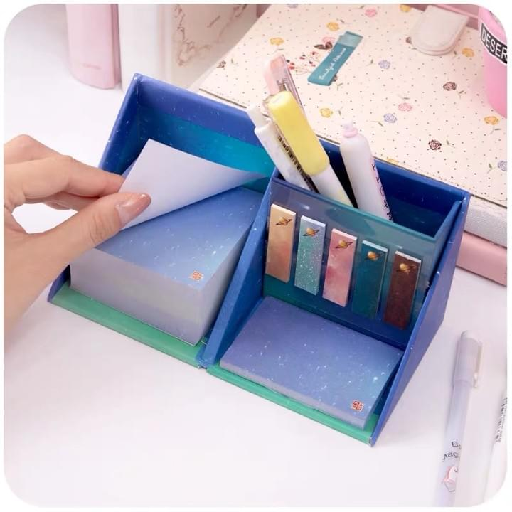 Promotion memo Note Pads With Pen Holder Cube Box