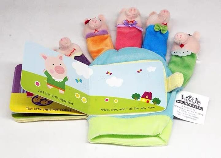 Children's finger gloves plush Books