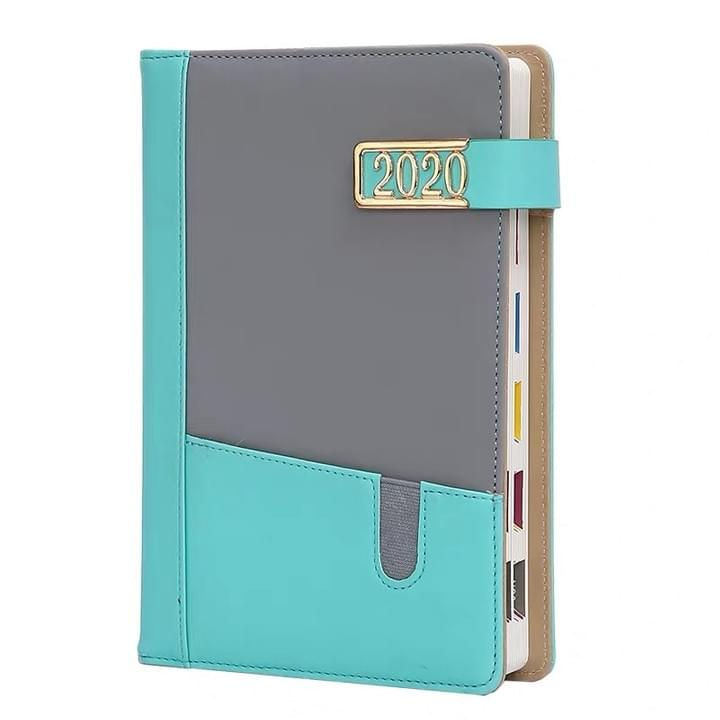 leather magnetic closure notebook diary