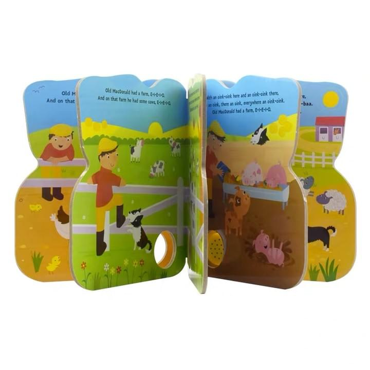Children's Board book with die cut shape