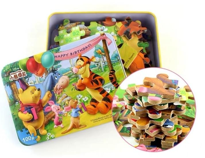 Children Puzzle Tin Boxes