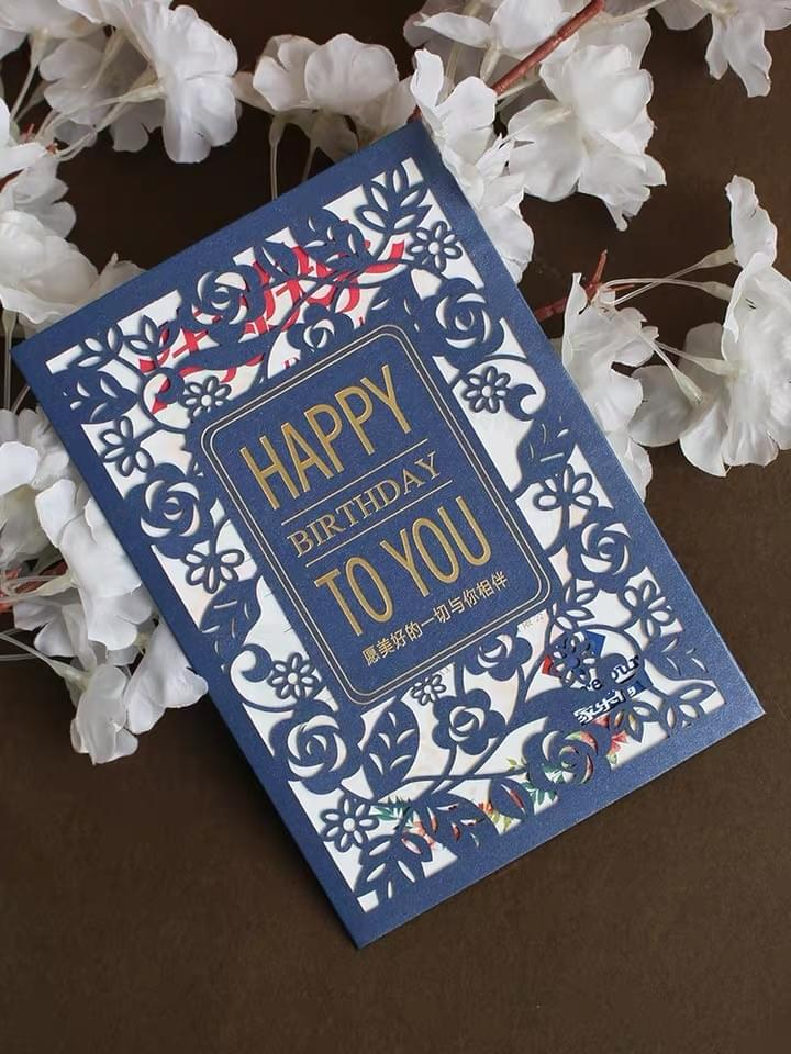 Happy Birthday Laser cut Greeting Cards