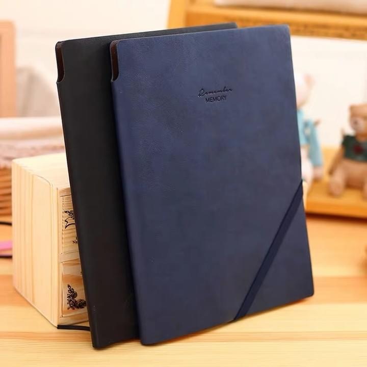 Leather Cover Notebook journal with elastic band