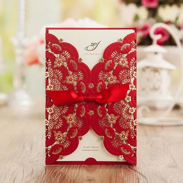 Valentine Laser cut Greeting Cards