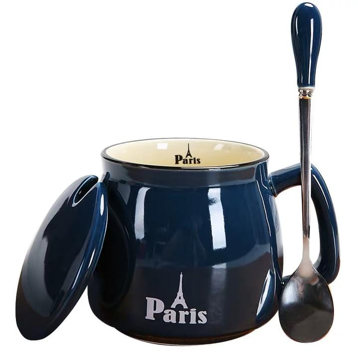 Promotional Ceramic Mugs with Spoon
